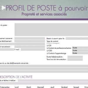 Fiche de poste | Le Monde de la Propreté